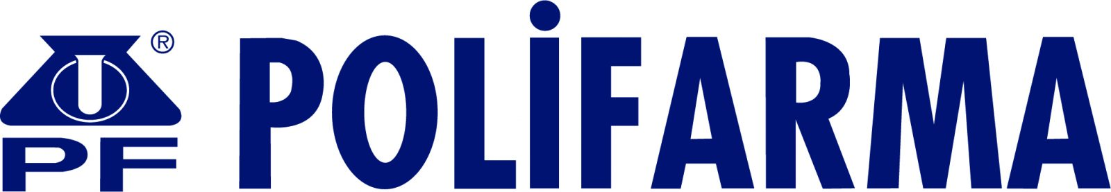 Polifarma logo yatay kullanım tek